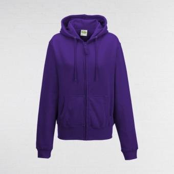 Ladies Fitted Hoodie (Purple)