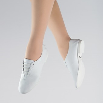 1st Position Leather Jazz Shoes (White)