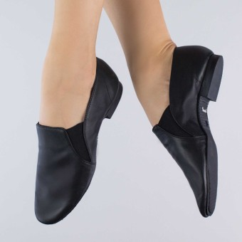 1st Position Side Gusset Slip on Full Sole Jazz Shoe