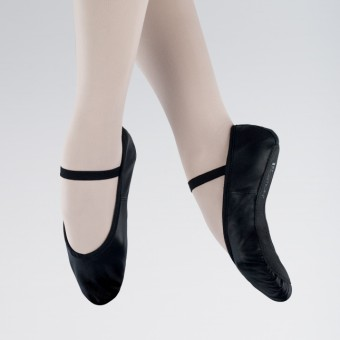 1st Position Leather Ballet Shoes (Black)