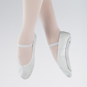 1st Position Leather Ballet Shoes (White)