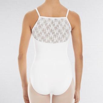 Intermezzo Trikot mit schmalen Trägern und Spitze am Rücken (White)