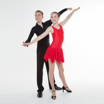 1st Position Girls Practice Ballroom Leotard (Red)
