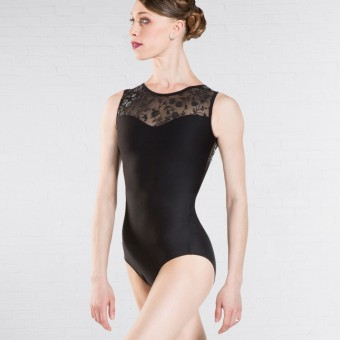 Wear Moi Majeste Lace Back Tank Leotard (Black)