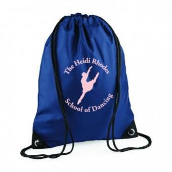 PP*#434#* Gymsac French Navy with Heidi Rhodes School Of Dancing Logo