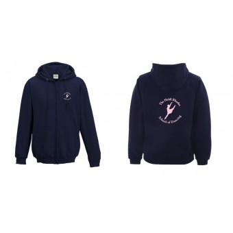 Ladies Fitted Hoodie (New French Navy) with Heidi Rhodes School Of Dancing Logo