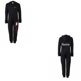Child Onesie in Black with Footsteps Dance Academy Logo