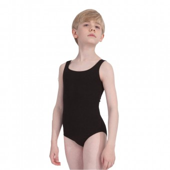 Plume Boys Tank Leotard (Black)