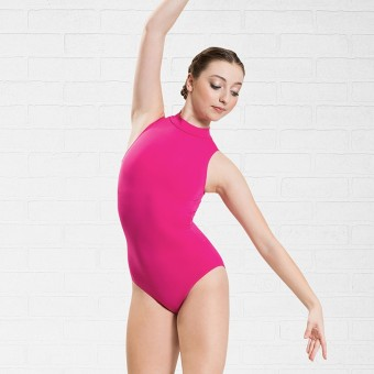 Plume Polo Neck Leotard (Mulberry)
