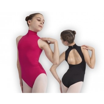 Plume Mid Back Polo Neck Leotard (Mulberry)