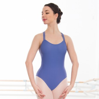 1st Position Ellie Double Strap Leotard (Matt Nylon) (Bluebell)