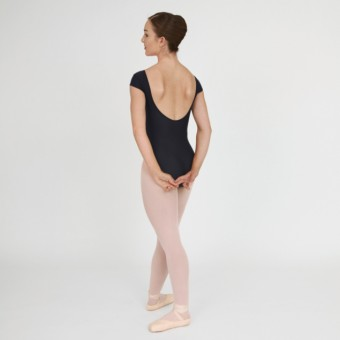 1st Position Lauren Cap Sleeve Leotard (Matt Nylon) (Black)