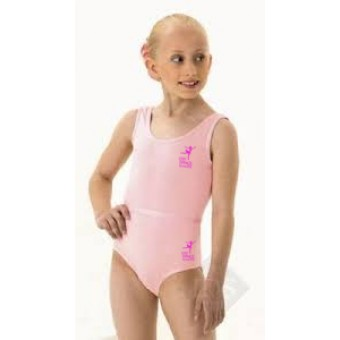 PP *#2008181#* 1st Position Laura Grades 1-5 Leotard (Pale Pink) with Lyric Dance Studio Logo