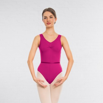 1st Position Anne Grades III/V Leotard (Mulberry)