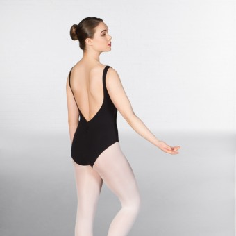 1st Position Francesca Sleeveless Low Back Leotard (Black)