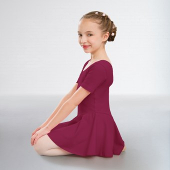 1st Position Hannah Skirted Leotard Cotton (Burgundy)