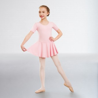 1st Position Hannah Skirted Leotard Cotton (Pale Pink)