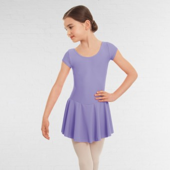 1st Position Maddy Skirted Cap Sleeve Leotard (Matt Nylon) (Lilac)