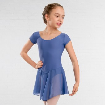 1st Position Milly Voile Skirted Cap Sleeve Leotard (Bluebell)