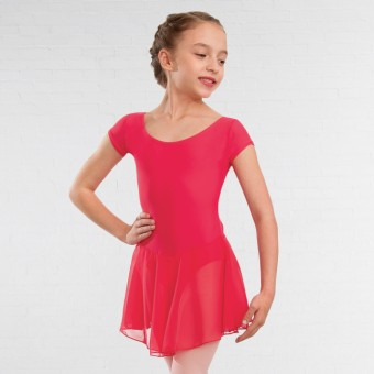 1st Position Milly Voile Skirted Cap Sleeve Leotard (Coral)