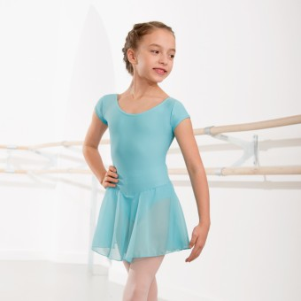 1st Position Milly Voile Skirted Cap Sleeve Leotard (Aqua)