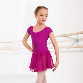 1st Position Milly Voile Skirted Cap Sleeve Leotard (Magenta)