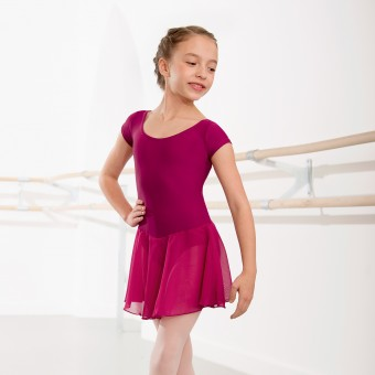 Milly Voile Skirted Cap Sleeve Leotard (Rose)