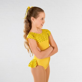 1st Position Natasha Dotty Bum Frill Leotard (Yellow)