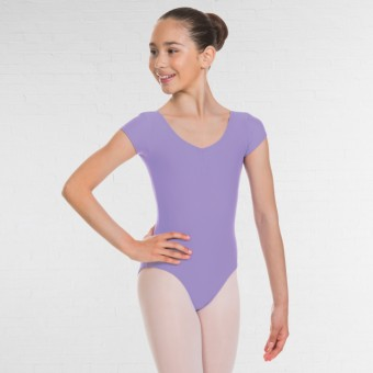 1st Position Alice Cap Sleeved Ruched Leotard (Matt Nylon) (Lilac)
