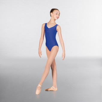 1st Position Angela Ruched Front Leotard (Royal Blue)