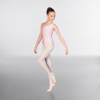 1st Position Angela Ruched Front Leotard (Pale Pink)
