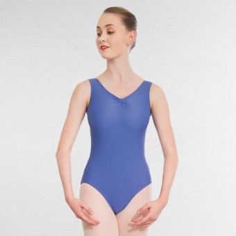 1st Position Helena Ruched Lined Leotard (Matt Nylon) (Bluebell)