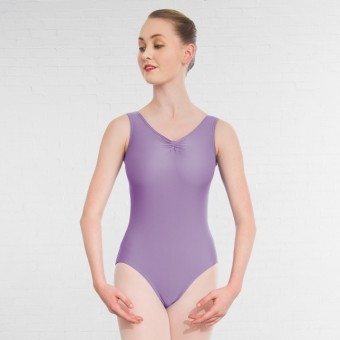 1st Position Helena Ruched Lined Leotard (Matt Nylon) (Lilac)