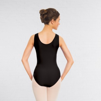 1st Position Helena Ruched Lined Leotard (Matt Nylon) (Black)
