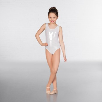 1st Position Laura Metallic Dot Vest Leotard (Silver)