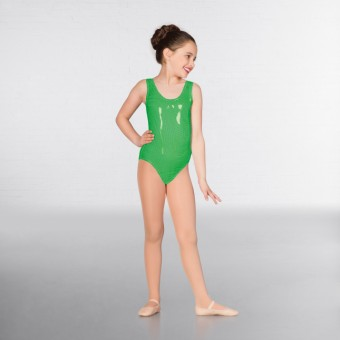1st Position Laura Metallic Dot Vest Leotard (Green)