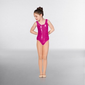 1st Position Laura Metallic Dot Vest Leotard (Pink)