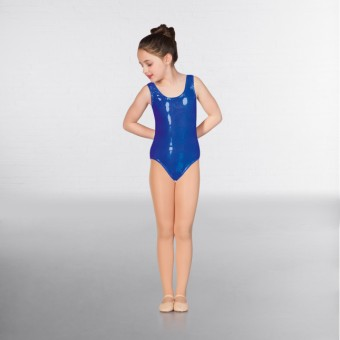 1st Position Laura Metallic Dot Vest Leotard (Royal Blue)