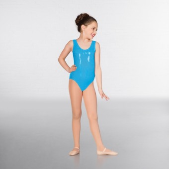 1st Position Laura Metallic Dot Vest Leotard (Turquoise)