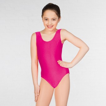 1st Position Laura Vest Leotard (Bright Raspberry)