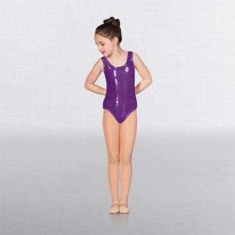 1st Position Laura Metallic Dot Vest Leotard (Purple)
