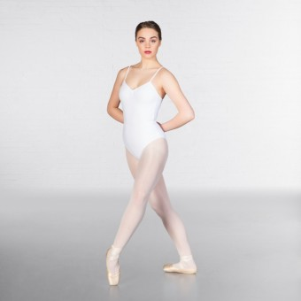 1st Position Camisole Leotard (White)