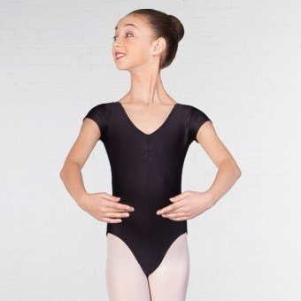 1st Position Pippa Cap Sleeved Leotard (Black)