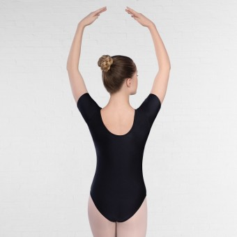 1st Position Alison Short Sleeved Leotard Black (Black)