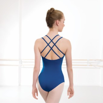 1st Position Rachel Double Strap Cross Back Leotard Cotton (Royal Blue)