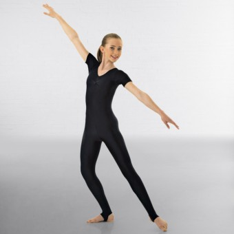 1st Position Jenny Ruched Front Catsuit (Black)