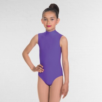 1st Position Jill Polo Neck Sleeveless Leotard (Delphinium)