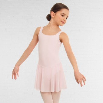 1st Position Meryl Skirted Leotard (Light Pink)