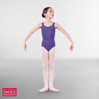 RAD Approved Anna Princess Line Adjustable Ruche Front Leotard (Lavender)