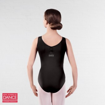 RAD Approved Darcey Princess Line Ruche Front & Back Leotard (Black)